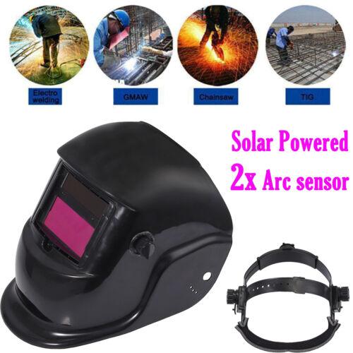 DIN9-13 Solar Auto-Darkening Welding Helmet Welder Mask Hood PP Li Battery