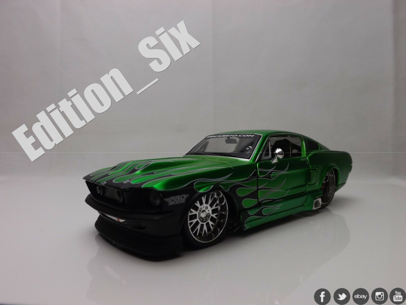 Maisto 1 24 1967 Ford Mustang GT Green HotRod American Muscle sports car