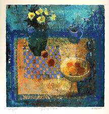"BARBARA STEWART ""Symphony in Blue"" SIGNED LTD EDITION! SIZE:72cm x 68cm NEW RARE"