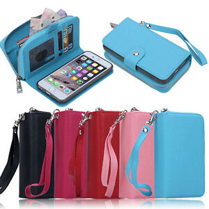 For-Apple-iPhone-6S-6S-Plus-SE-Leather-Purse-Zipper-Card-Cash-Holder-Wallet-Case