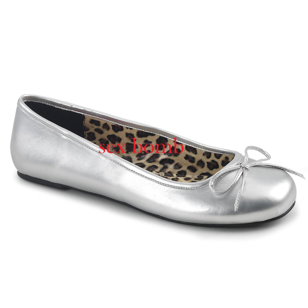 Sexy BALLERINE ARGENTO dal 39 al 46 ARGENTO BALLERINE fiocchetto tacco flat scarpe GLAMOUR Chic eae70e