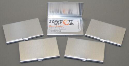 5x Visitenkartenetui aus Aluminium im Hamsterpack superleicht für 10-15 Karten