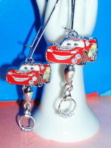 Disney Cars Mc Queen Rennauto Auto Ohrhänger Rot Neu