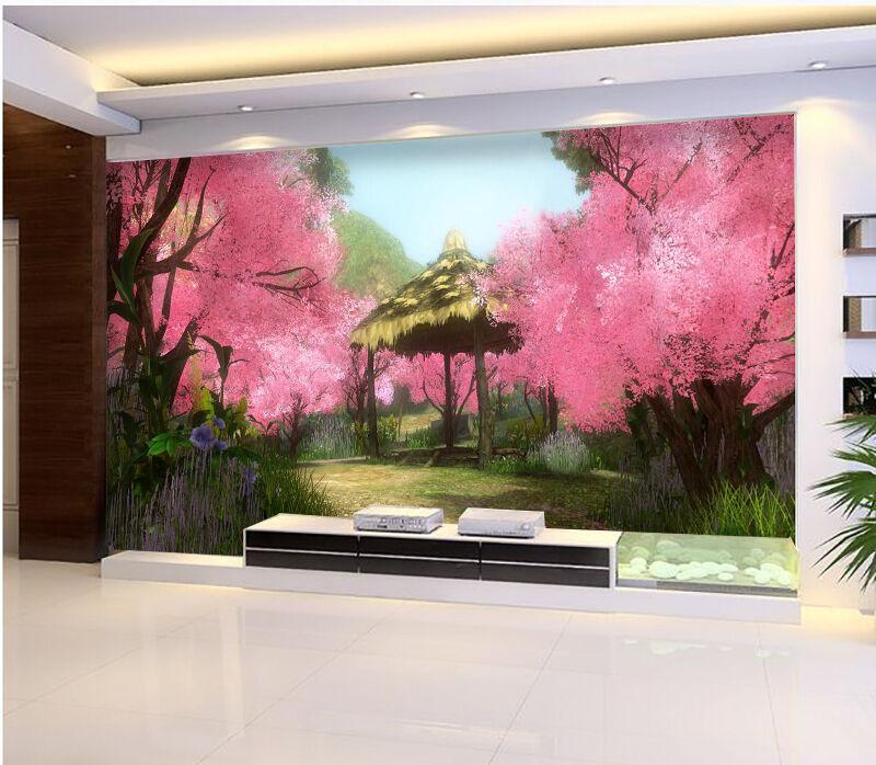 3D Jcerise Arbre 23 Photo Papier Peint en Autocollant Murale Plafond Chambre Art