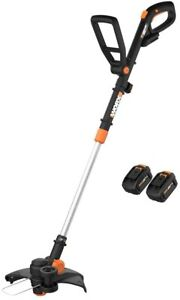 WORX WG170.1 20V 4.0 Cordless Grass Trimmer/Edger with (2) Batteries