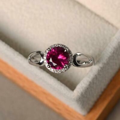 925 Sterling Silver Handmade Certified Ruby Stone Antique Earrings For Beloved