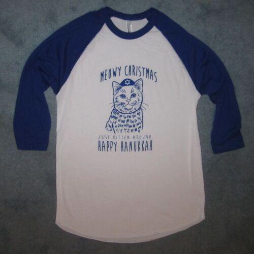 raglan happy hanukkah funny cat ugly sweater party holiday tee cute new t shirt