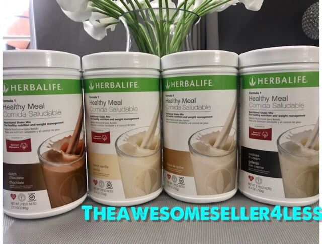 4x Herbalife Formula 1 Healthy Meal Nutritional Shake Mix 264oz All