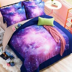 Funda Nordica Espacio.Detalles De 3d Galaxy 2 3 4 Un Conjuntos De Cama Universo Espacio Exterior Funda Nordica Cama Hoja Ajuste Ver Titulo Original