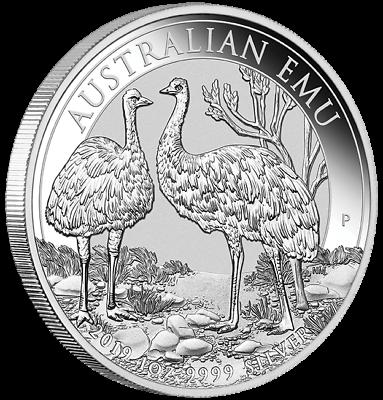 Vorsichtig 1 $ Dollar Silver Australian Emu Australien 1 Oz Silber 2019