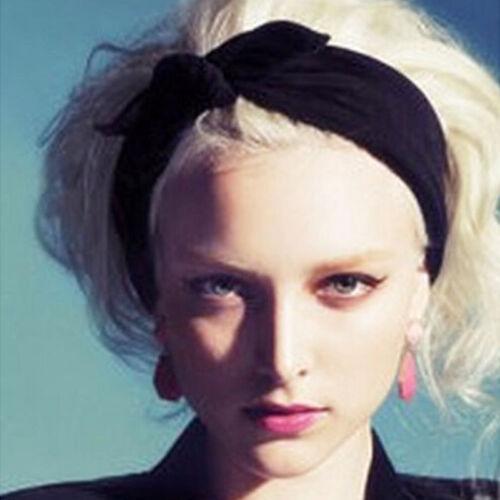Damen Elastisch Dehnbar Schleife Haarband Stirnband Dekoration Vielfarbig