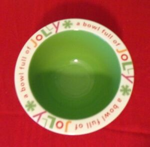 Hallmark-034-A-Bowl-Full-Of-Jolly-034-Christmas-Holiday-Dip-Bowl-Candy-Snacks-Party