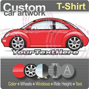 custom t shirt for 1998 99 03 2005 vw volkswagen new beetle 1 8 turbo s rsi fans. Black Bedroom Furniture Sets. Home Design Ideas