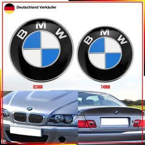 82mm Motorhaube passt für BMW 1 3 5 6 7 Z X6 X5 Kofferraum Heckklappe Emblem