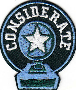 """/""""I CARE/"""" Iron On Embroidered Patch Words Sayings Heartfelt"""