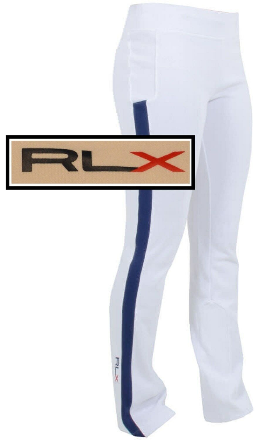 NWT  RLX by Ralph Lauren Womens Andrea Sport Pant in Pure White Size S
