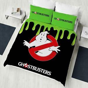 Ghostbusters-Double-Housse-de-Couette-et-Taie-D-039-Oreiller-Set-Officiel-Literie
