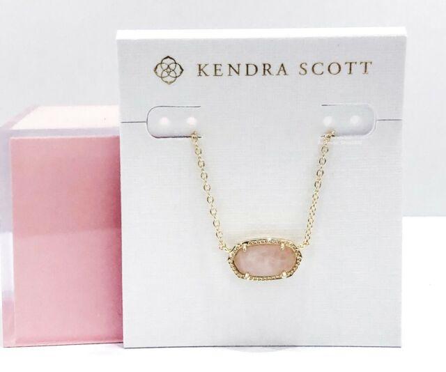 Kendra Scott Elisa Pendant Necklace In Rose Quartz For Sale Online Ebay