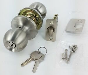 Keyed Alike Entry Door Knob Lock Tubular Door Lockset