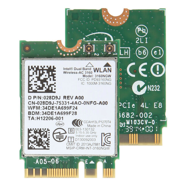 Intel Wireless-AC 3160 3160NGW Dual Band Bluetooth 4 0 NGFF Wifi Card For  DELL