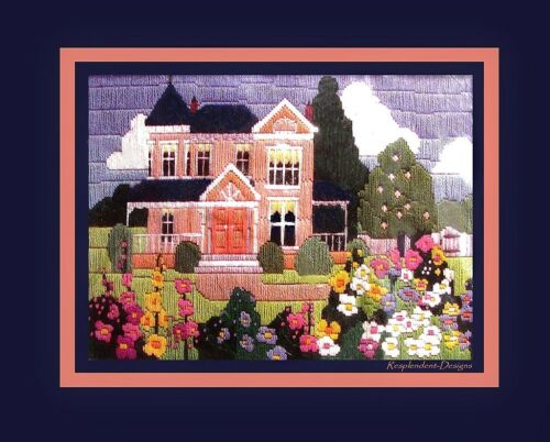 Spring Victorian House LG WOOL KIT *VINTAGE LONGSTITCH* 1987 CREATIVE CIRCLE