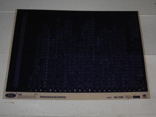 FORD SCORPIO mk1 MICROFICHE Fiche Pièces de rechange Catalogue Oldtimer