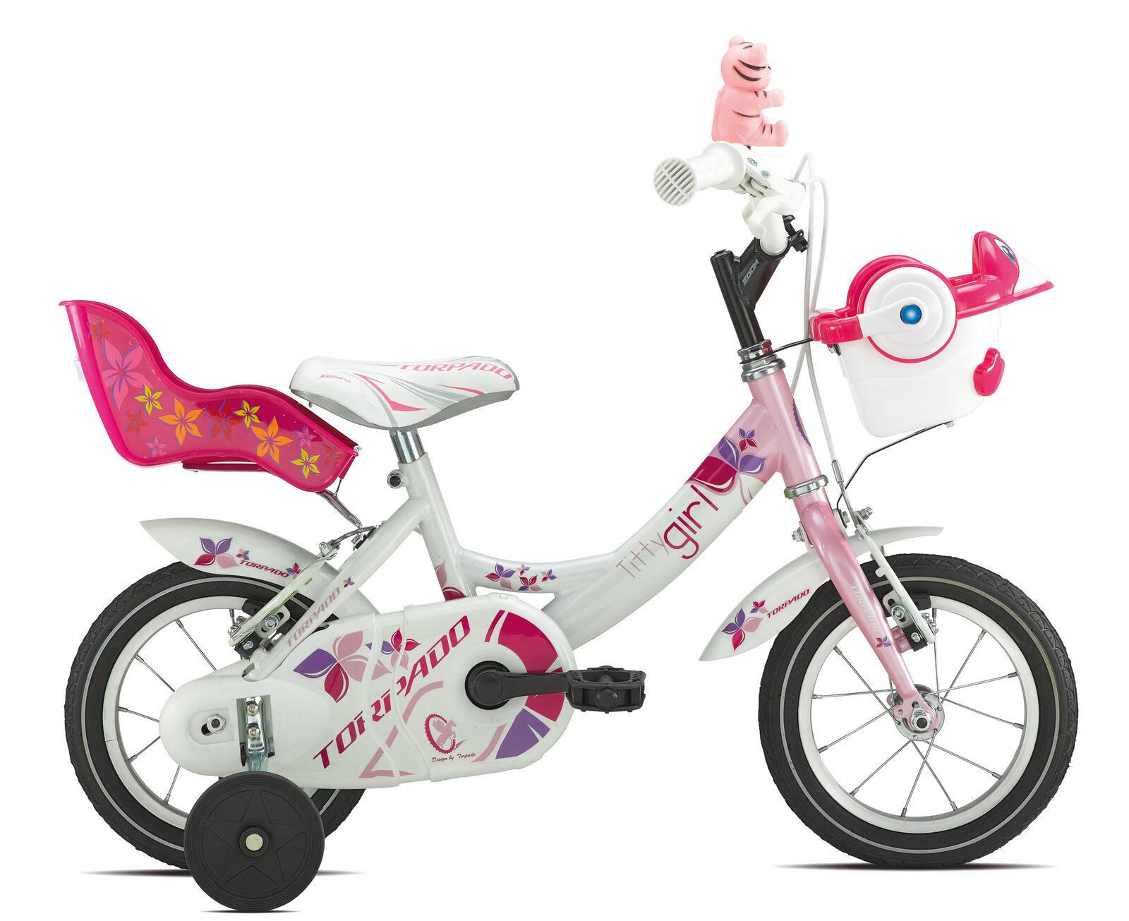bicycle junior titty 12 rosado girl 1v Blanco rosado 12 Torpado bike ac6b33