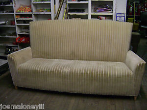 Image Is Loading High Back Velvety Upholstered Ribbed Fabric Sofa Couch