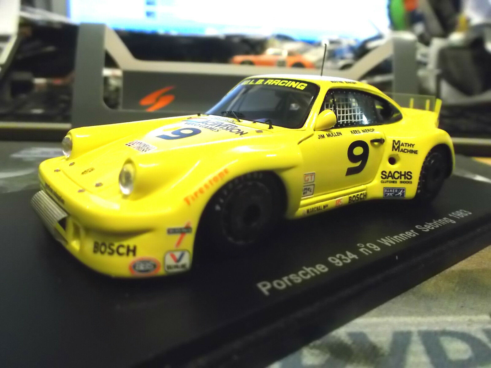 PORSCHE 911 934 Carrera Winner sebring 1983  9 Baker Baker Baker Nierop WLB Spark Res 1 43  | Outlet Store  4ea40a