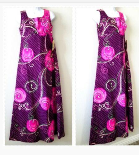 TORI RICHARD VINTAGE Pink Hawaiian Floral Dress Wo