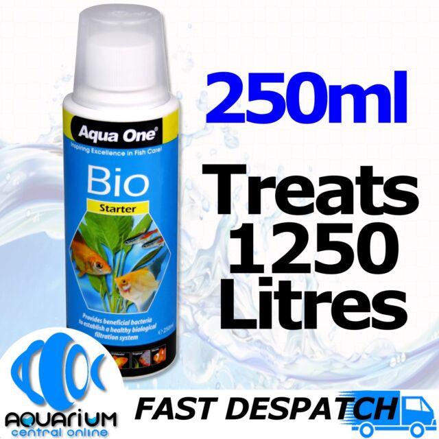 Aqua One Aquarium Fish Tank Bio Starter 250ml Bacteria Treatment Conditioner