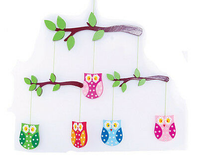 NEW Wooden Owl Hanging Nursery Baby Mobile - Room Decor