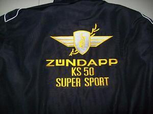 NEU-ZUNDAPP-KS-50-SUPER-SPORT-Oldtimer-Fan-Jacke-schwarz-veste-jacket-jakka-jas
