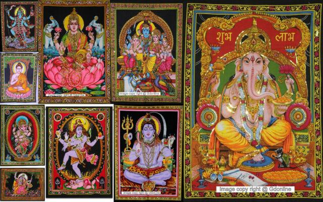 Indain Goddess Kali Mandala Wall Hanging Dorm Decor Lord Shiva Cotton Tapestry For Sale Online Ebay