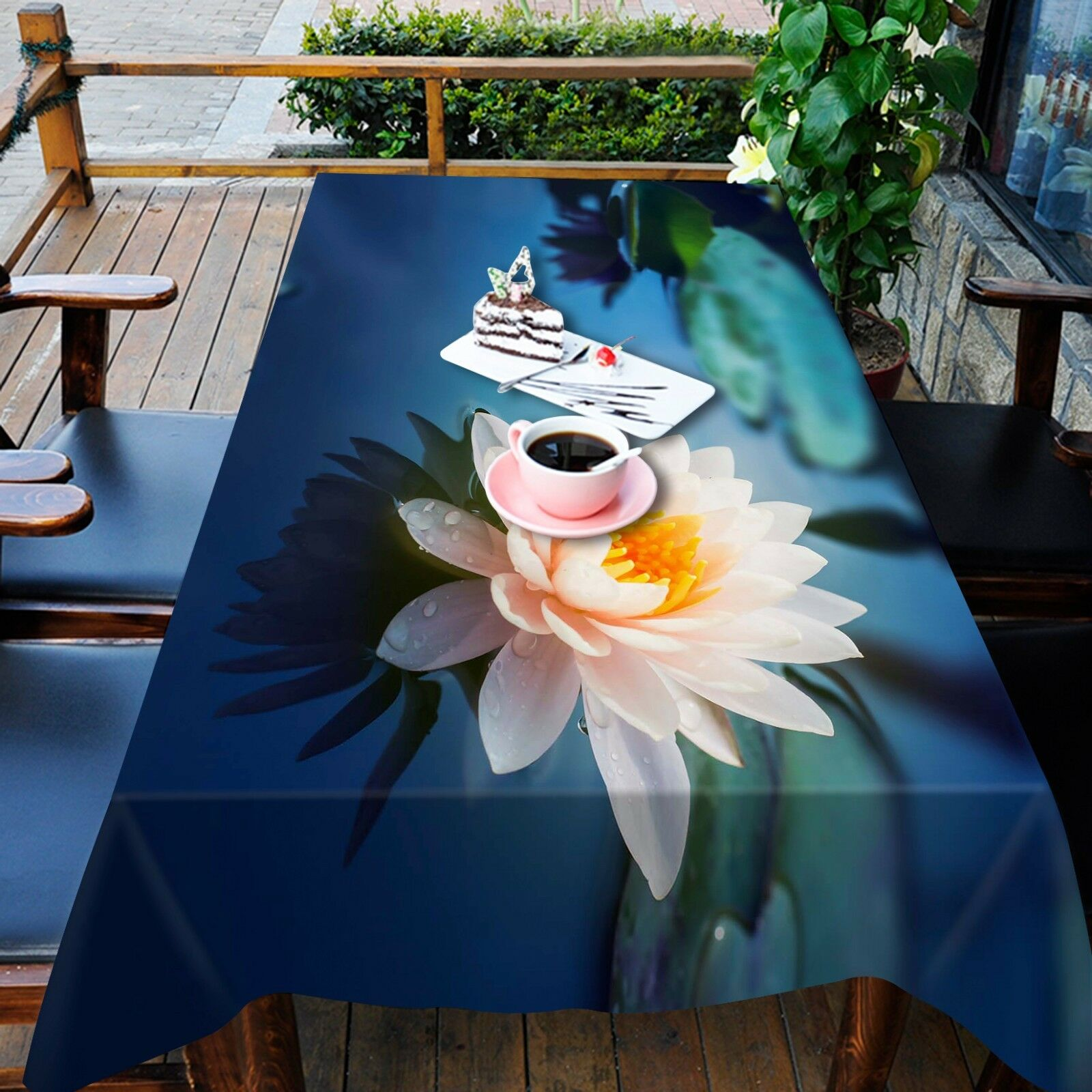 3D Water Lily 450 Tablecloth Table Cover Cloth Birthday Party Event AJ WALLPAPER