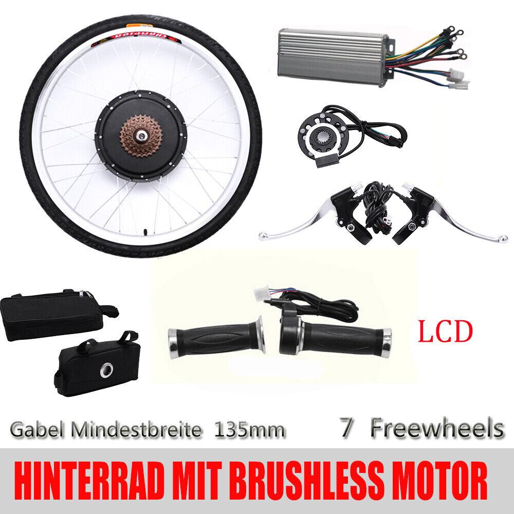 48V 1000W LCD E-bike arrière moyeu roue moteur Conversion vélos électrique FR