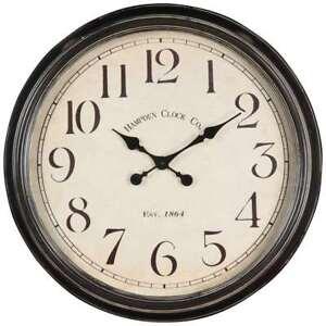 Black//White SKILCRAFT Black Body SelfSet Wall Clock NSN5573153