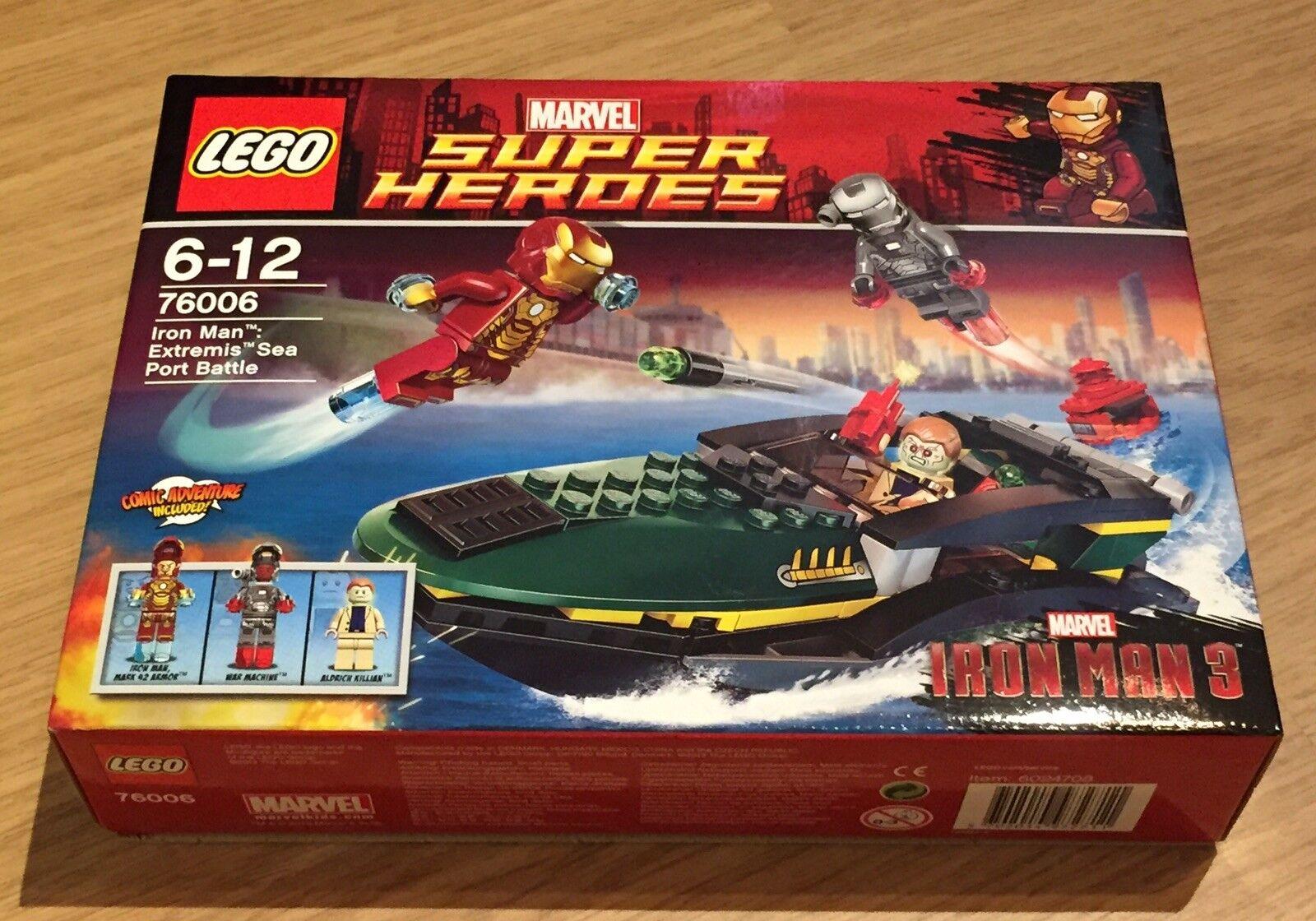 LEGO Marvel Super Heroes Iron Man Extremis Sea Port Battle 76006. Brand New