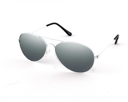 Espejo Blanco Redondo Metal Espejados Gafas de sol de moda 80S Retro Tonos Diseñador