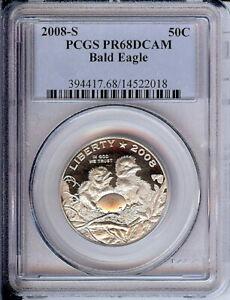 2008 S 50C Bald Eagle Commemorative PCGS PR68DCAM