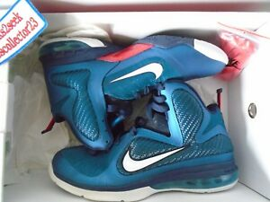 quality design f759c 5d18d Image is loading NIKE-LEBRON-9-Swingman-Green-Abyss-White-Obsidian-
