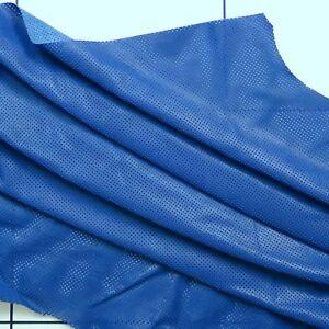 Brillant Perforé Vachette Cuir 1.0/1.2mm Bleu Moyen Barkers Hide & Skins N299-afficher Le Titre D'origine Marchandises De Proximité