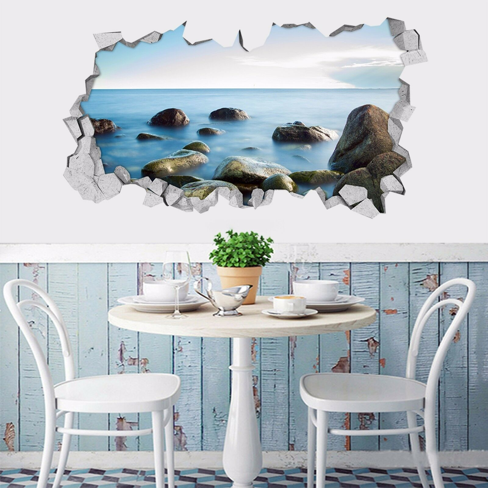 3D Vasti Mare Pietre 38 Parete Murales Adesivi Decal Sfondamento AJ WALLPAPER IT