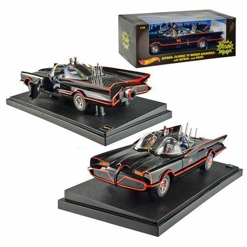 1 18 Hot Wheels djj39 TV 1966 Batmobile avec Batman & Robin personnages