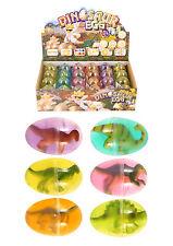 6 x Mini Dino Dinosaur Egg In Gross Yucky Slime - Party Lot Bag Toy N14 080