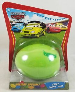 New Disney Pixar CARS Easter Egg Holiday Special Chief Shiny Wax 1:55 Diecast