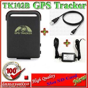 LOCALIZZATORE-TRACKER-GPS-TK102-B-TK-102-2-TK102-PRO-slot-SD-CAVO-BATTERIA-AUTO