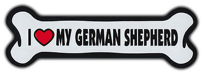 GIANT SIZE!!! Dog Bone Magnet: I Love My German Shepherd | Cars, Trucks, More