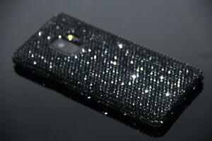 low priced 4f65e 6d93d Details about Bling Black Diamond Case For Samsung Galaxy S9 S9 Plus WITH  SWAROVSKI ELEMENTS