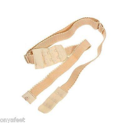 Womens LOW BACK BRA STRAP Converter extender clip backless hook Black White Nude